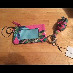 Vera Bradley lanyard and ID zipper case NEW